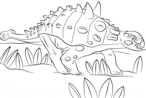 Jurassic Park Euoplocephalus Coloring Page