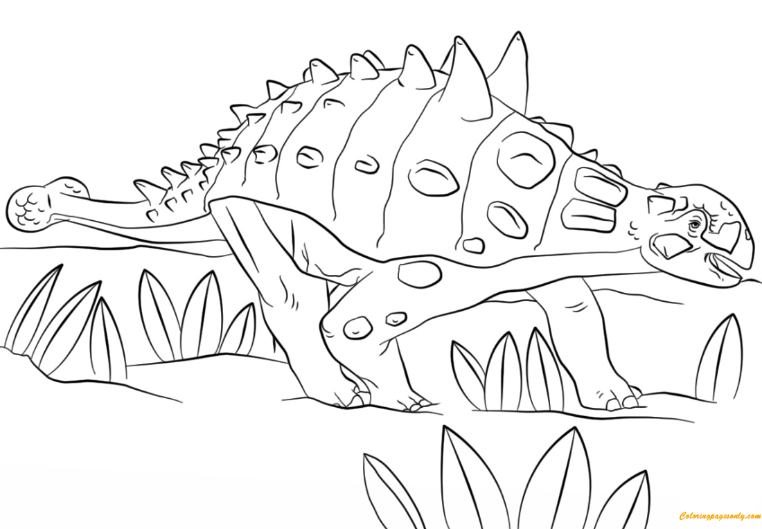 Jurassic Park Euoplocephalus Coloring Page Free Coloring