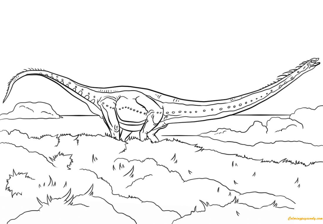 Jurassic Park Mamenchisaurus Coloring Page