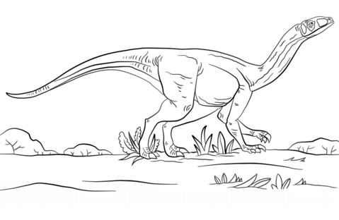 Jurassic Park Mussaurus Dinosaurs Coloring Page