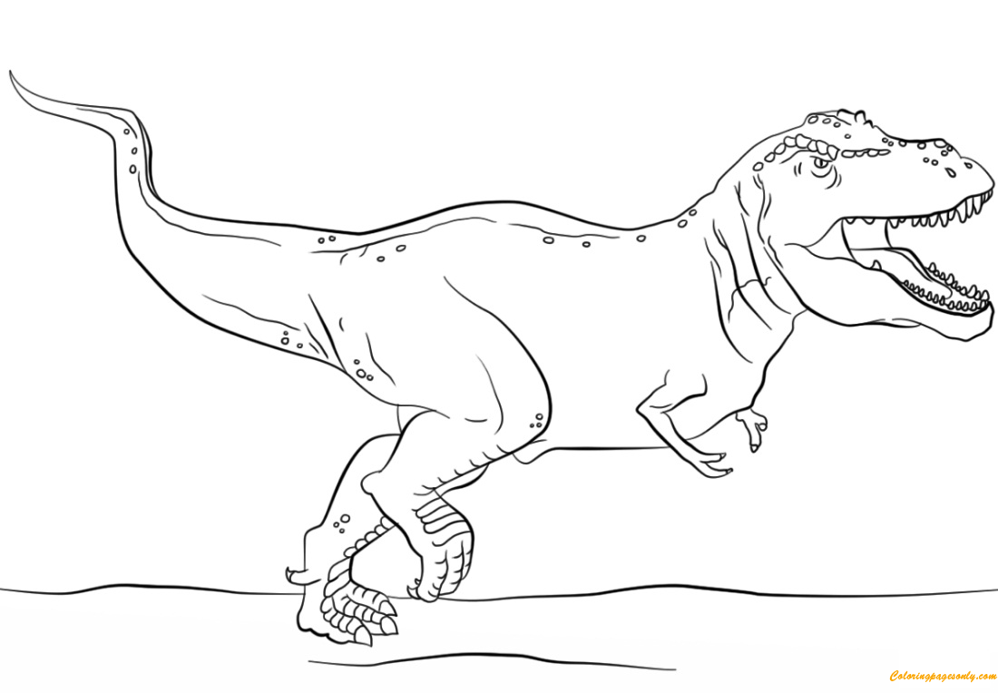 Jurassic Park T Rex Coloring Pages Dinosaurs Coloring Pages Free Printable Coloring Pages Online