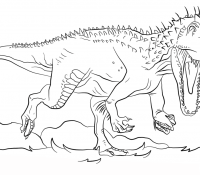 Jurassic World Coloring Page Coloring Page