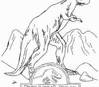 Jurassic World Dinosaur Coloring Page