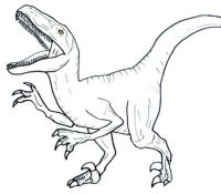 T Rex Jurassic World Coloring Page