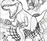 Jurassic World 5 Coloring Page
