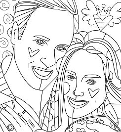 Kate Middleton and Prince William by Romero Britto