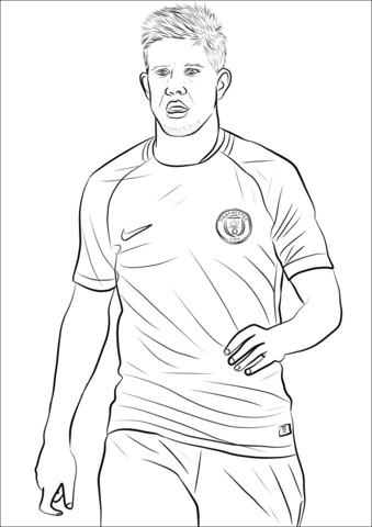 Kevin De Bruyne-image 1 Coloring Page