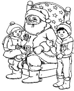 Kids And Santa Christmas