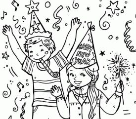 Kids Celebrate New Year