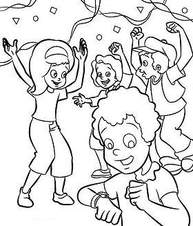 Kids Cheering The New Years