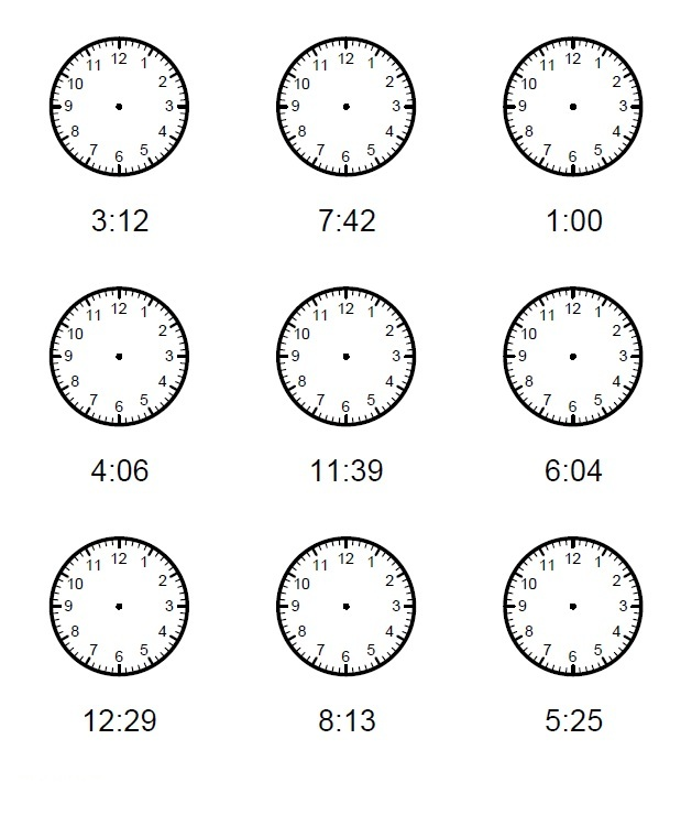 Kids Clock One Minute Intervals