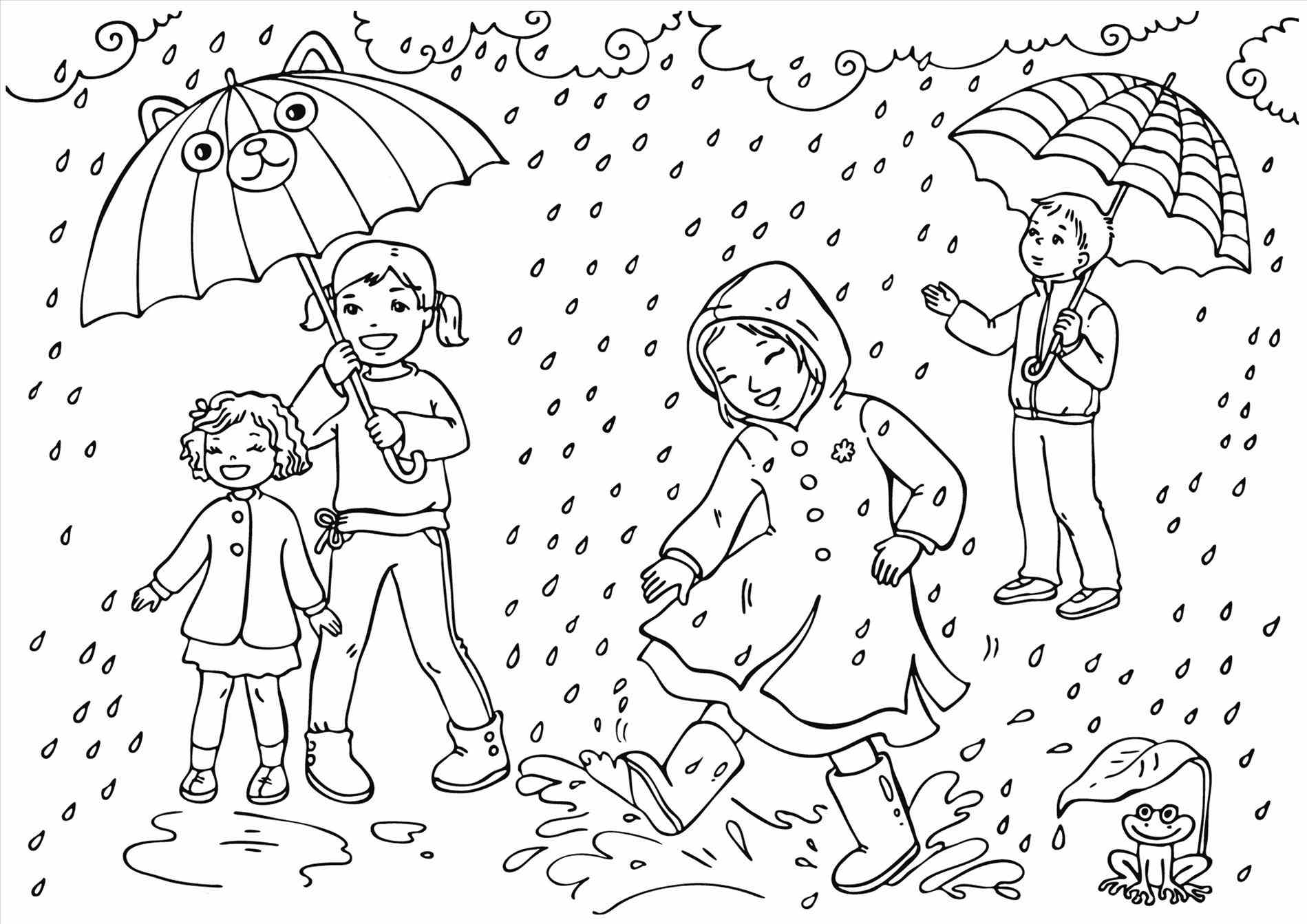 Kids Enjoying Spring Showers