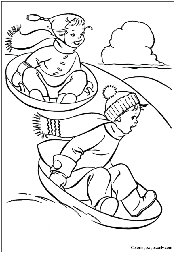 Sled Dog Coloring Pages - Get Coloring Pages | 881x608