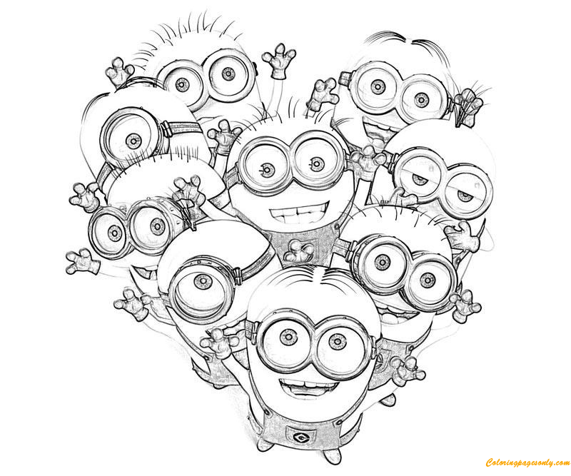 Kids Minions Despicable Me S0085 Coloring Pages - Cartoons Coloring Pages - Coloring  Pages For Kids And Adults