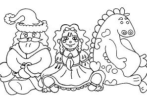 Kids Toys Coloring Page