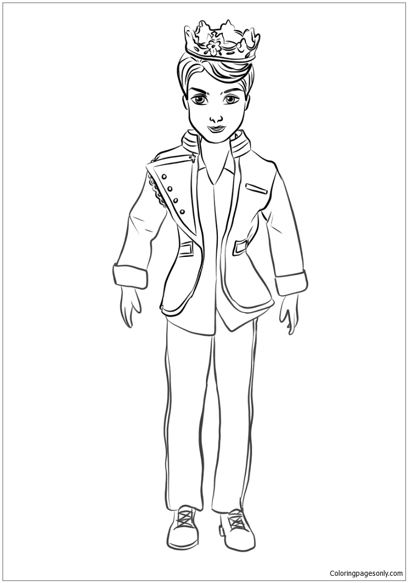 King Benjamin Ben from Descendants Coloring Page Free
