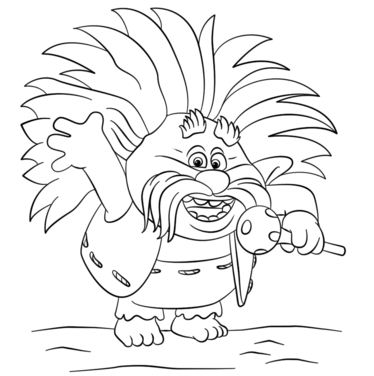 King Peppy From Trolls Coloring Page