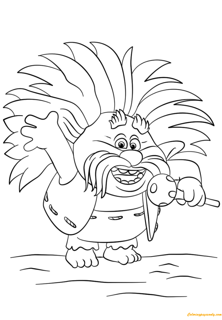 Free coloring pages of trolls - King Peppy From Trolls Coloring Page