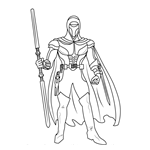 Kir Kanos from Star Wars Coloring Page