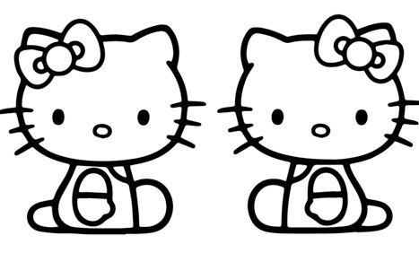 Kitty And Mimmy Coloring Page