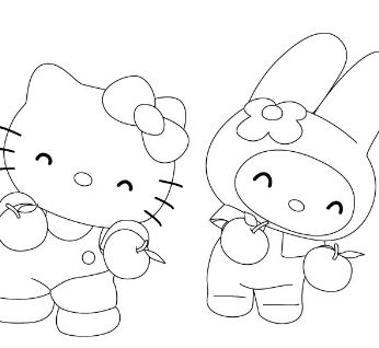 Kitty Dancer Coloring Page