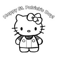 Kitty on Happy St Partrcks Day