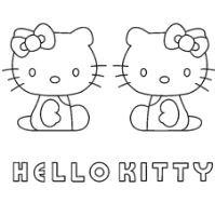 Kitty White And Mimmy Coloring Page