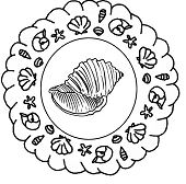 Kleurplaat Mandala Zomer 2