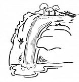 Waterfalls Coloring Pages - ColoringPagesOnly.com