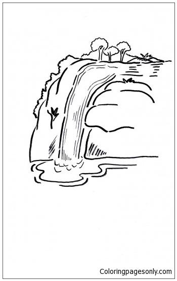 Kleurplaten Waterfalls Coloring Page