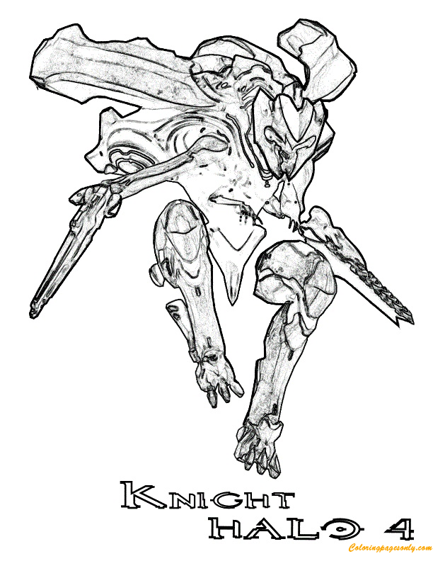 Knight halo 4 coloring page free coloring pages online for Halo coloring pages