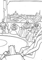 Knight Jedi Meeting Coloring Page