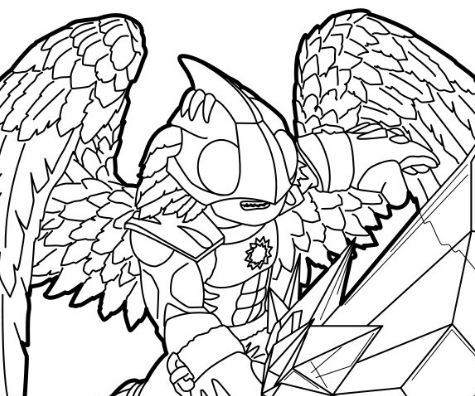 skylanders ignitor coloring pages - chill from skylanders coloring page free coloring pages