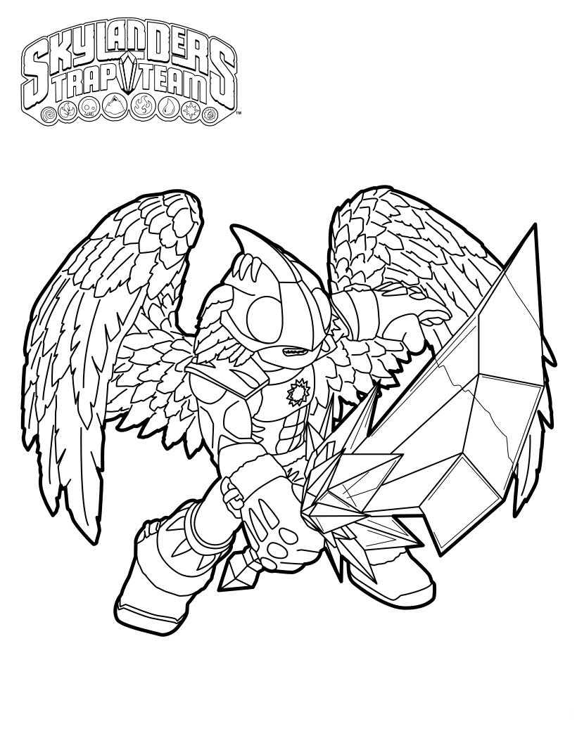 Flameslinger coloring pages ~ Knight Light Skylanders Coloring Page - Free Coloring ...