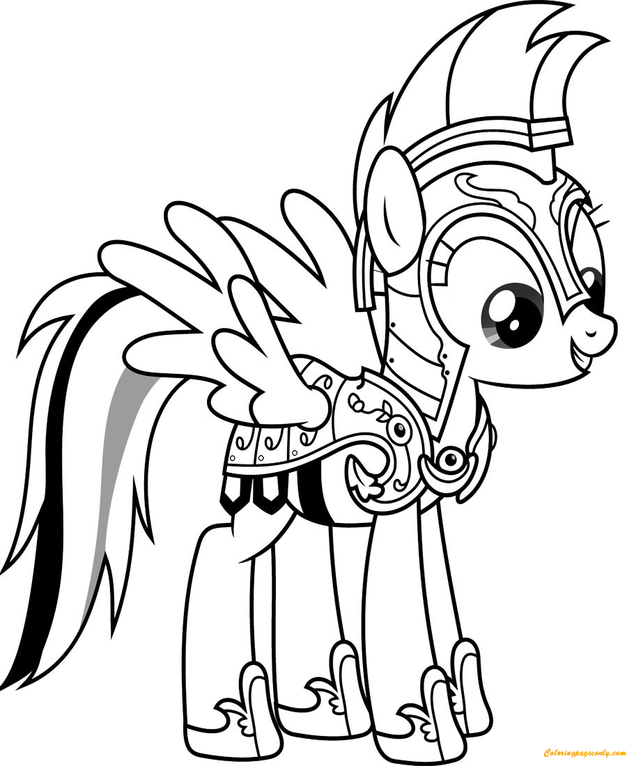 Knight Rainbow Dash Coloring Page