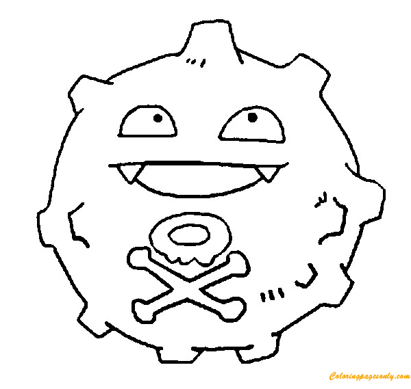 Koffing Pokemon Coloring Page Free Coloring Pages Online