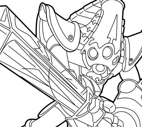 Related Coloring Pages Krypt King Was Made A Member Of Skylanders