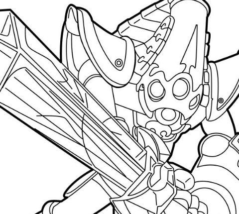 Krypt King was made a member of Skylanders Coloring Page