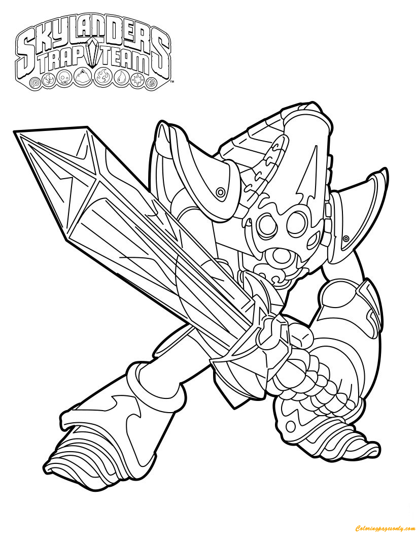 Krypt King Was Made A Member Of Skylanders Coloring Page