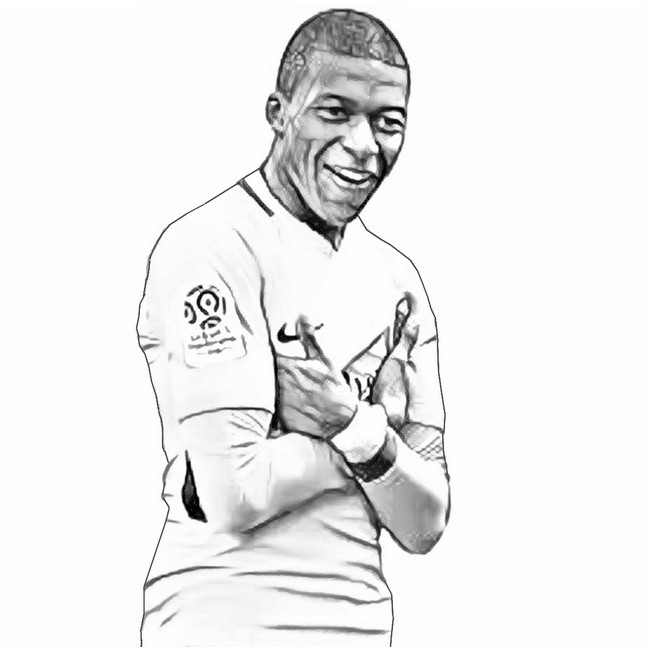 Kylian Mbappe Image 1 on Superhero Coloring Pages