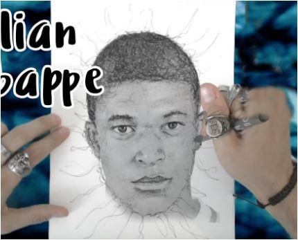 Kylian Mbappé-image 7 Coloring Page