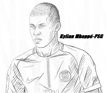 Kylian Mbappé-image 8 Coloring Page