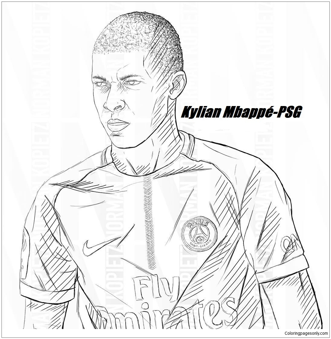 Kylian Mbapp image 8 Coloring