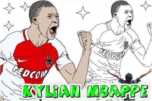 Kylian Mbappé-image 9 Coloring Page