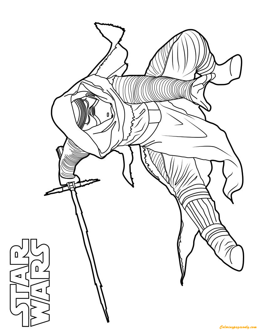Coloring Pages Kylo Ren : Kylo ren star wars coloring page free pages online