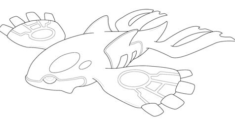 Kyogre From Pokemon Coloring Page