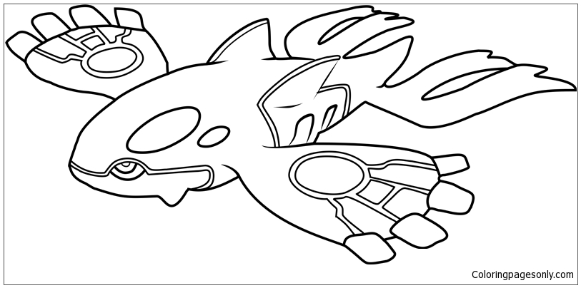 pokemon mega kyogre coloring pages - photo#6