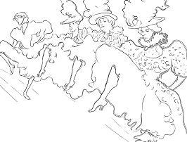 La Troupe De Mlle Eglantine by Toulouse  Coloring Page