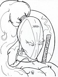 Lady Deadpool Coloring Page