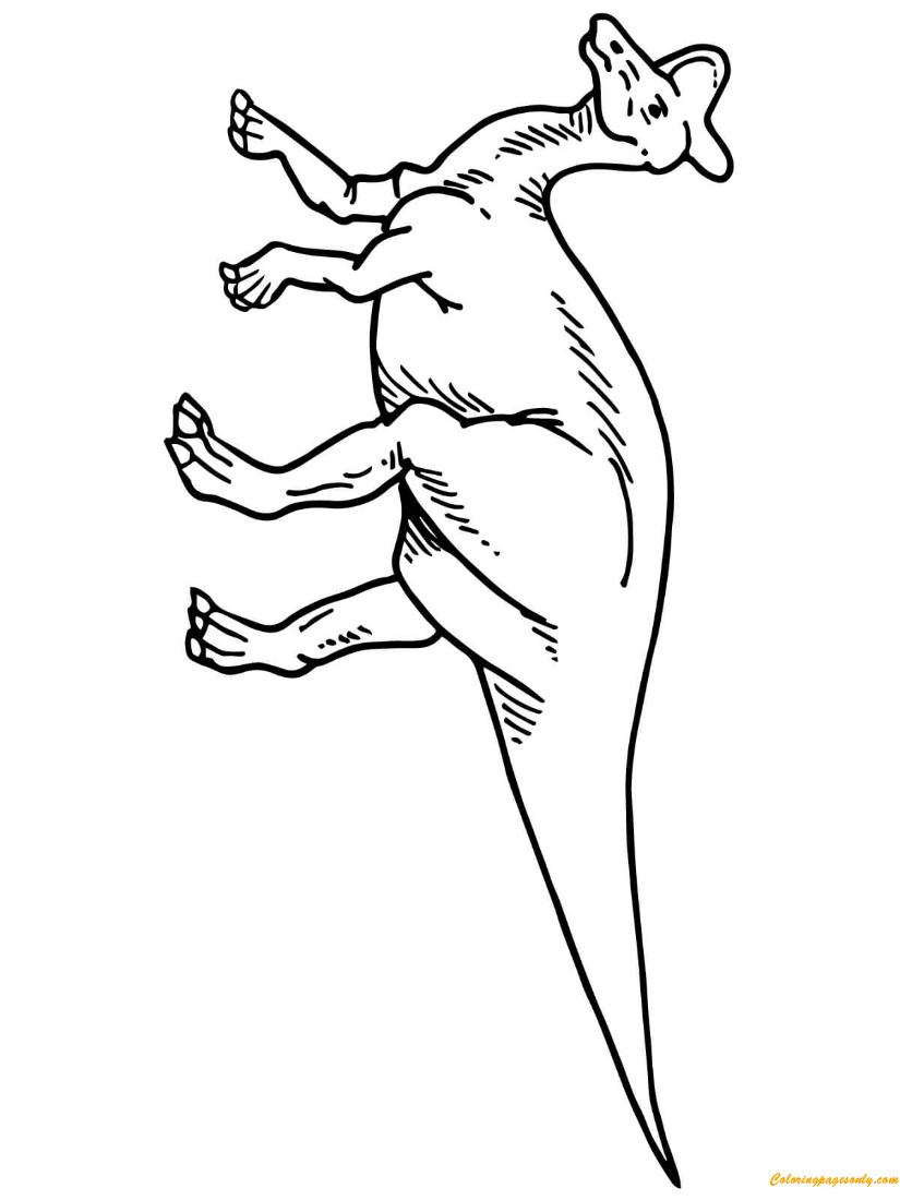 Lambeosaurus Hadrosaurid Dinosaur Coloring Page